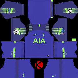 check out 5cea2 a6d7b Tottenham Hotspur 2018/19 UCL Kit - Dream League Soccer Kits ...