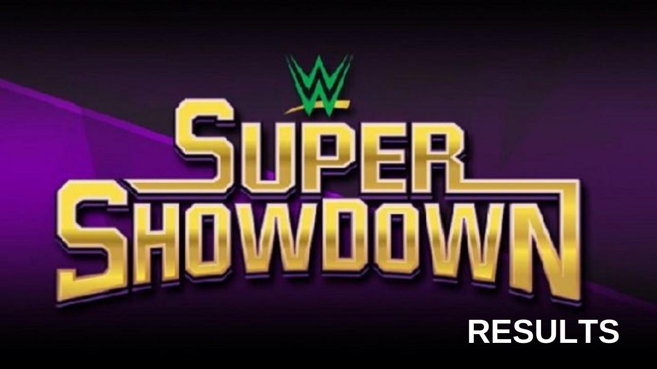 Wwe Super Showdown 2019 Results Wwe Wrestling Wwe Ppv