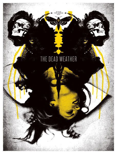 OMG Posters! » Archive » The Dead Weather Posters by Aesthetic Apparatus
