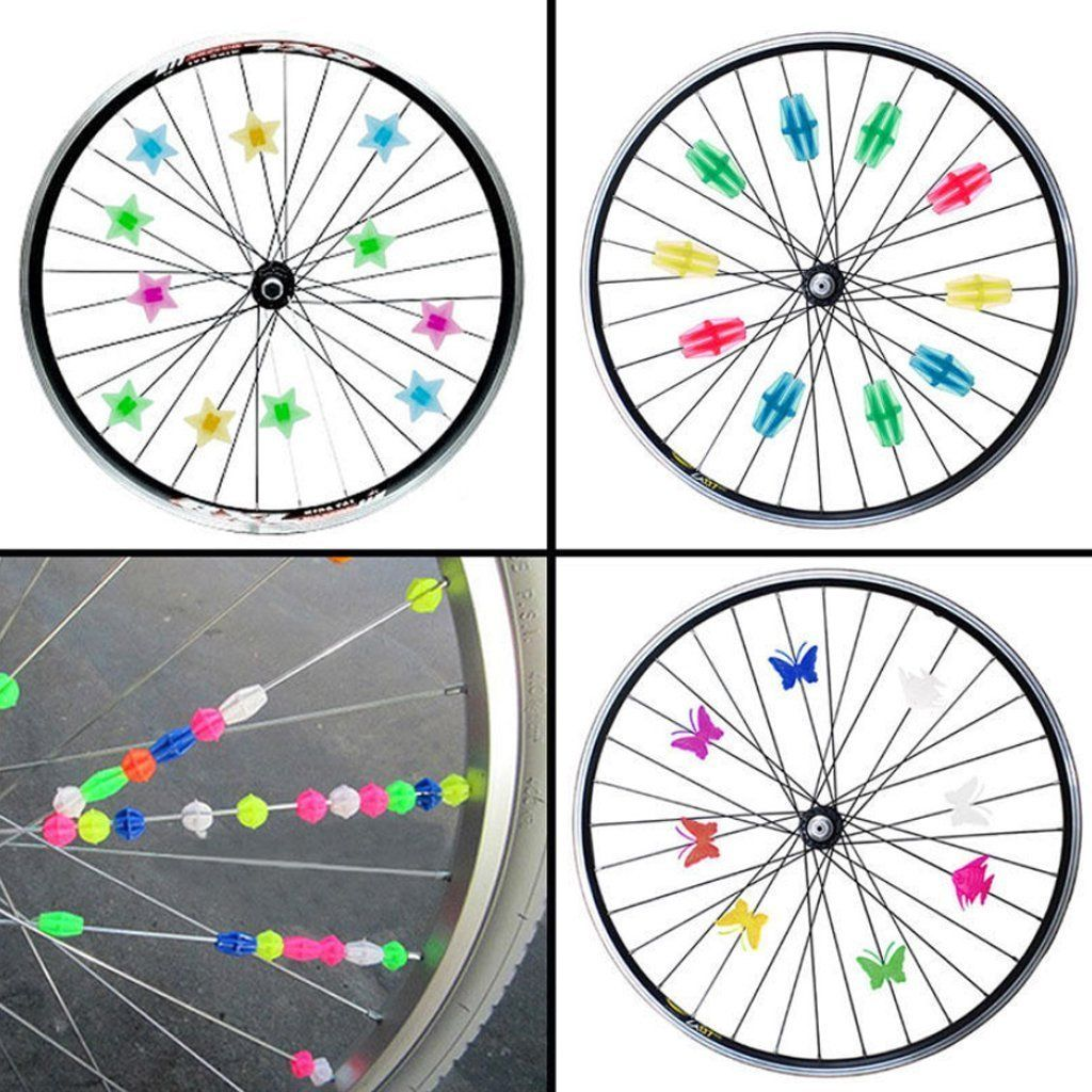 Momoonnon 170 Counts Colorful Bike Wheel Beads Bicycle Decoration