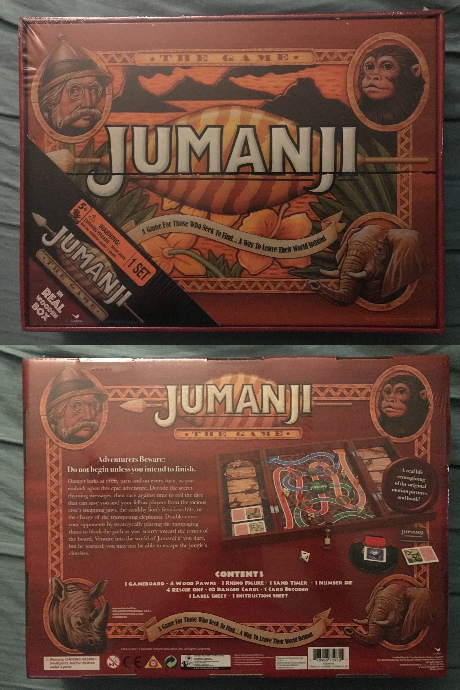 Contemporary Manufacture 180349 Jumanji Board Game In Wooden Wood
