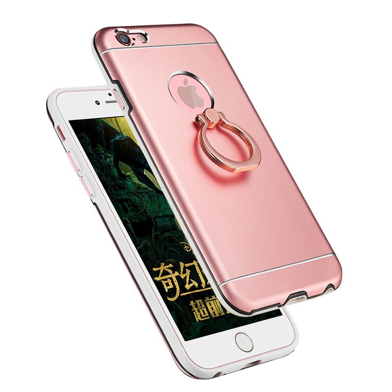 GAMURRY Metal Silicone Cover Phone Case With Ring Holder for Apple ...