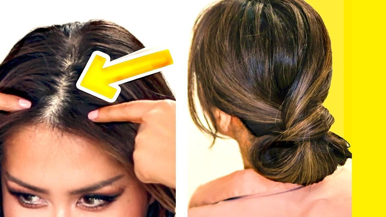 ☆ 11-MINUTE ELEGANT BUN for THIN HAIR  EASY UPDO HAIRSTYLES for