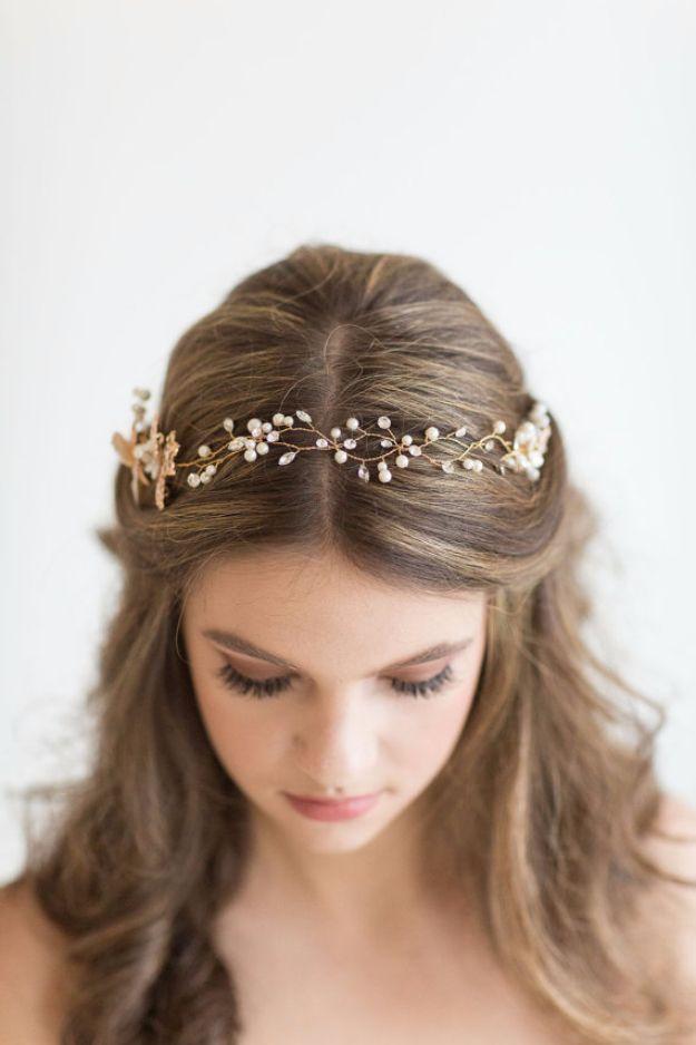 24 Beautiful Bridesmaid Hairstyles For Any Wedding The Goddess Hair Vine Wedding Hair Styles Medium Length Hair Styles