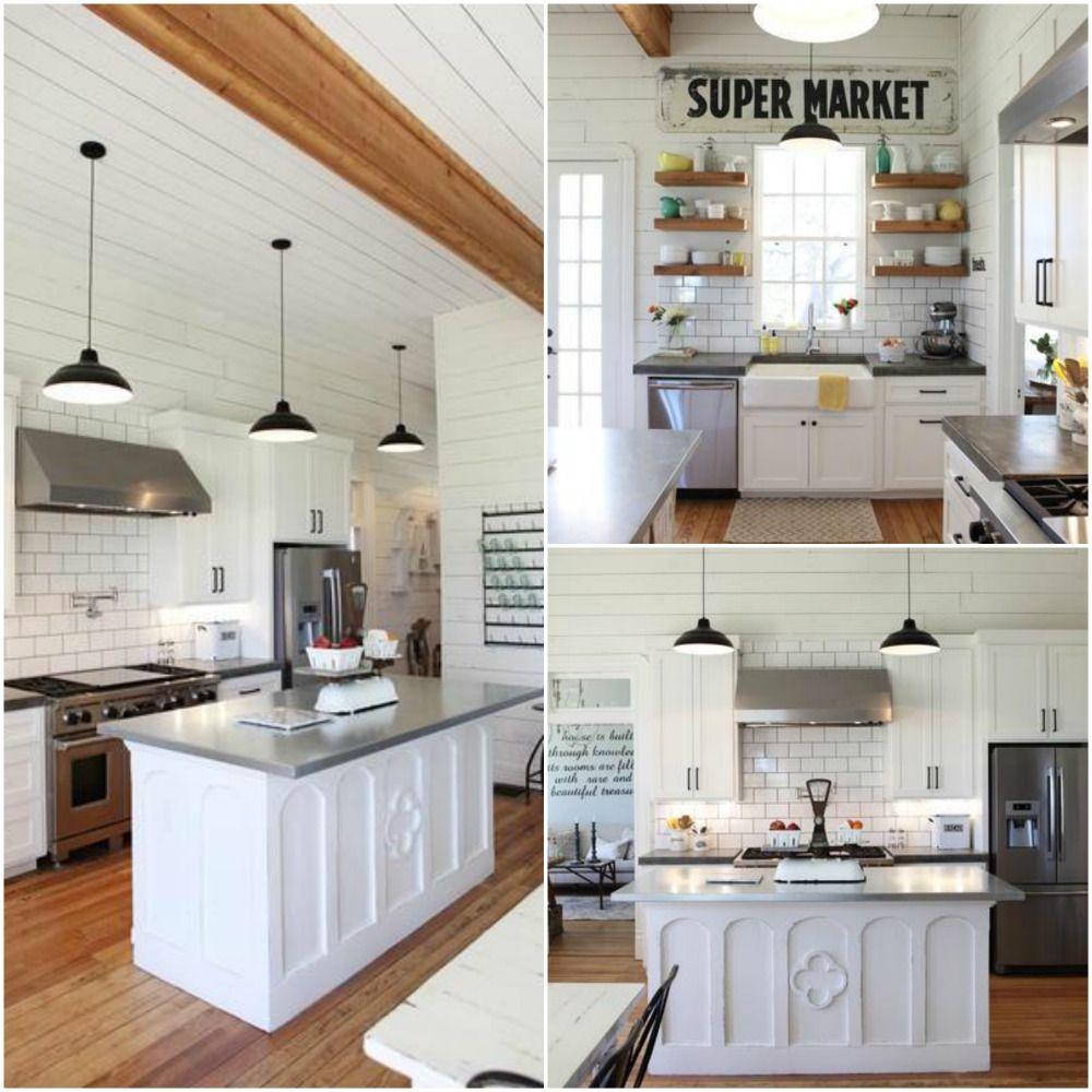 Upper Kitchen Cabinet Decorating Ideas: 10 Fixer Upper Modern Farmhouse White Kitchen Ideas