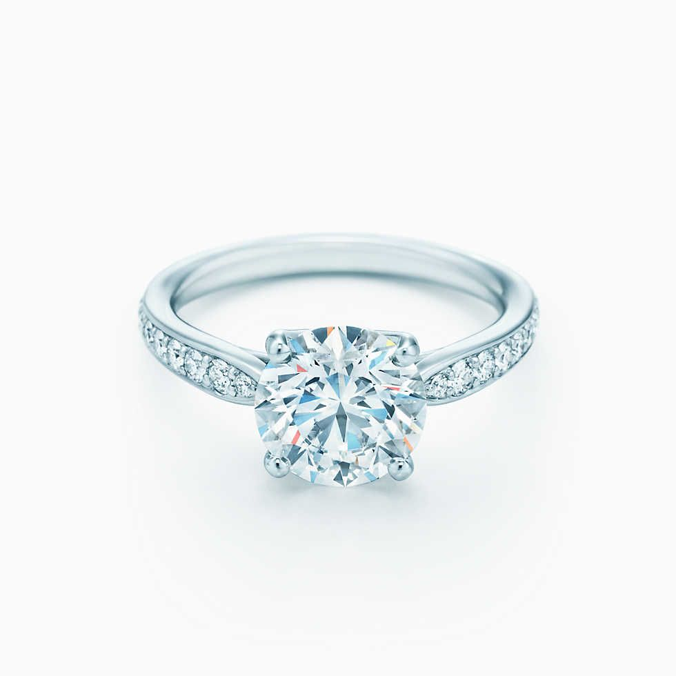 The Tiffany 174 Setting Engagement Ring With Diamond Band In