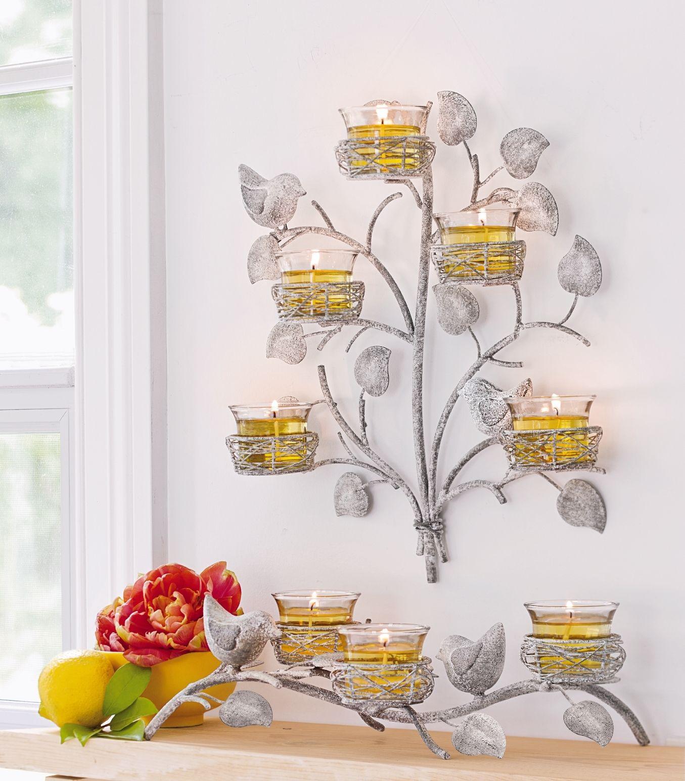 Kerzenhalter Zaubervogel Kerzen und Wandhalter Zaubervogel