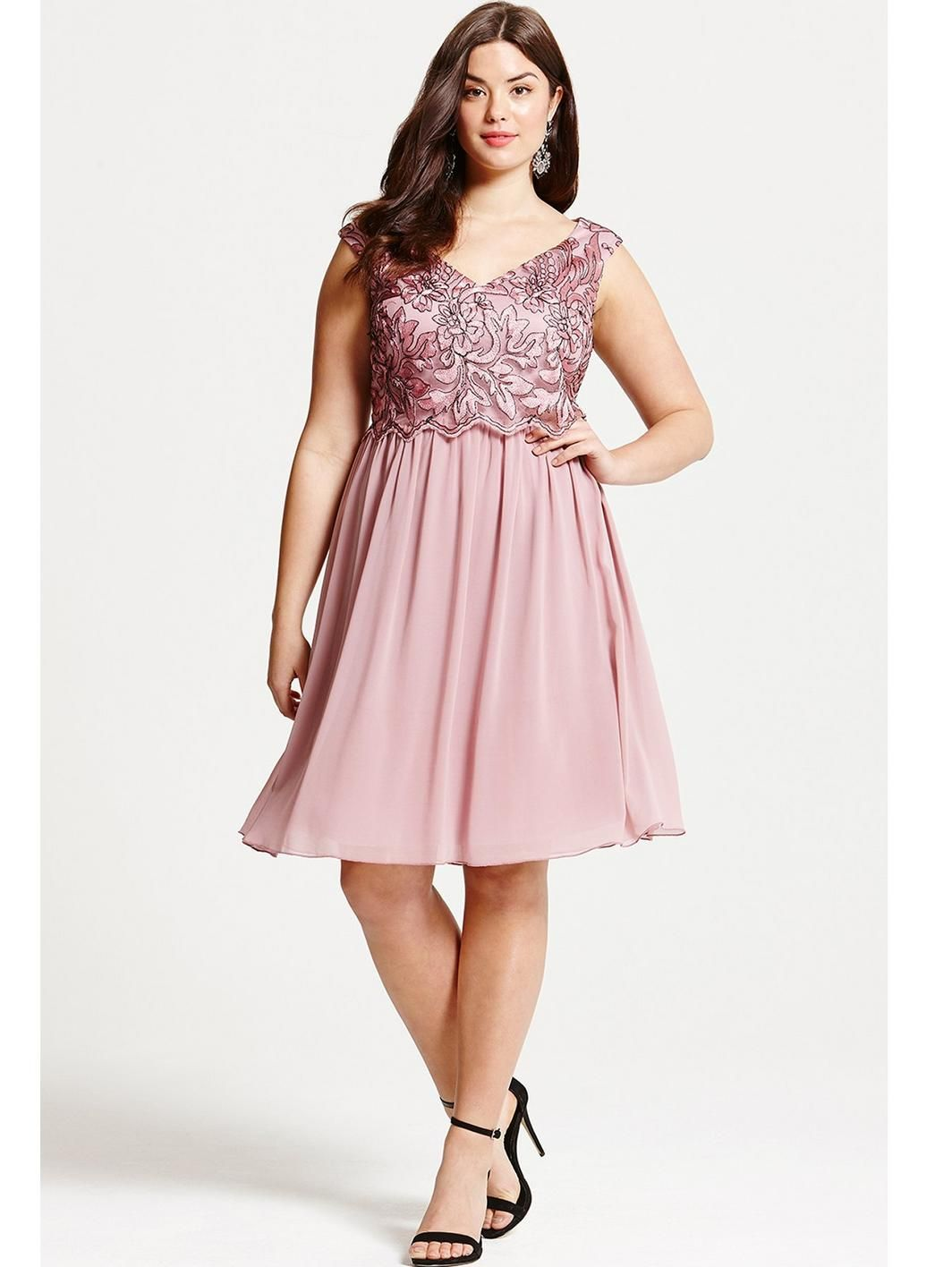 Dusty Pink Embroidered Prom Dress, http://www.very.co.uk/little ...