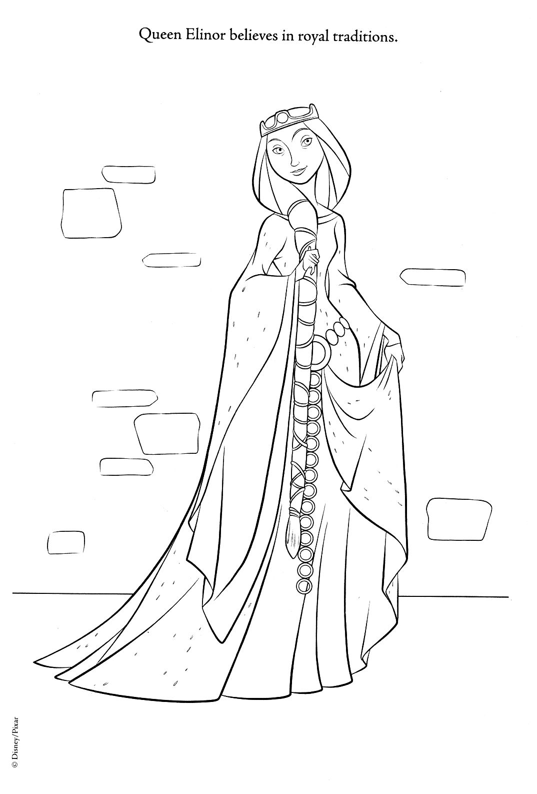 brave coloring pages brave photo queen elinor - Brave Coloring Pages