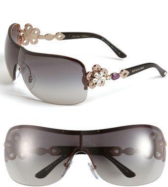 e1e6be0cdac BVLGARI Crystal Temple Rimless Shield Sunglasses ✺ꂢႷ ძꏁƧ➃Ḋã̰Ⴤʂ✺