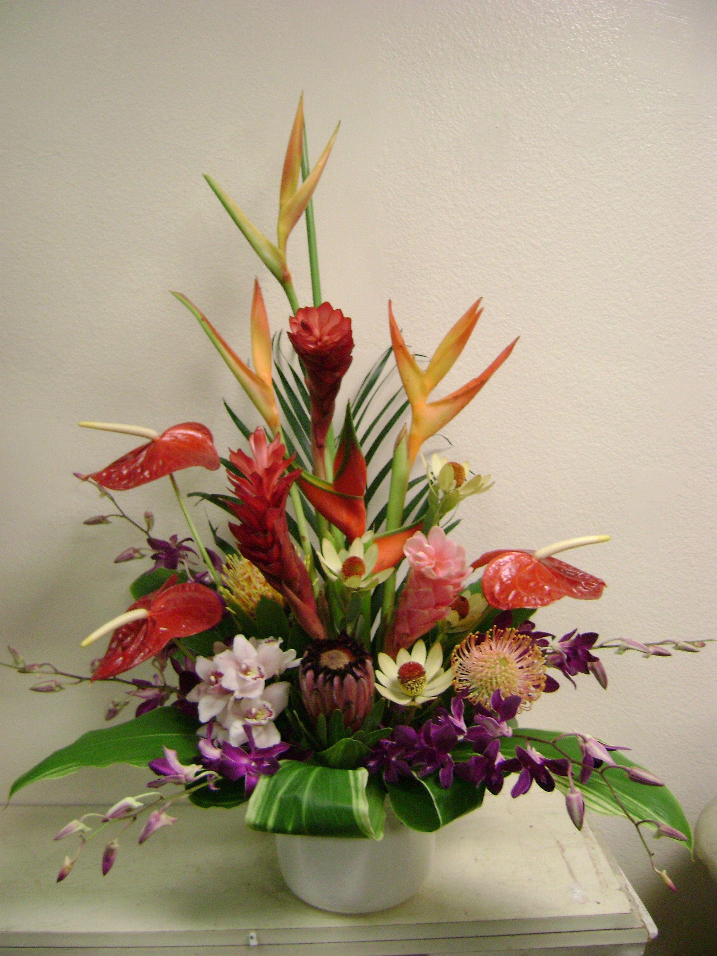 Large Hawaiian Tropical Flower Arrangement Hana Tropicals