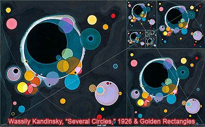 Several Circles by Wassily Kandinsky and the Golden Rectangle