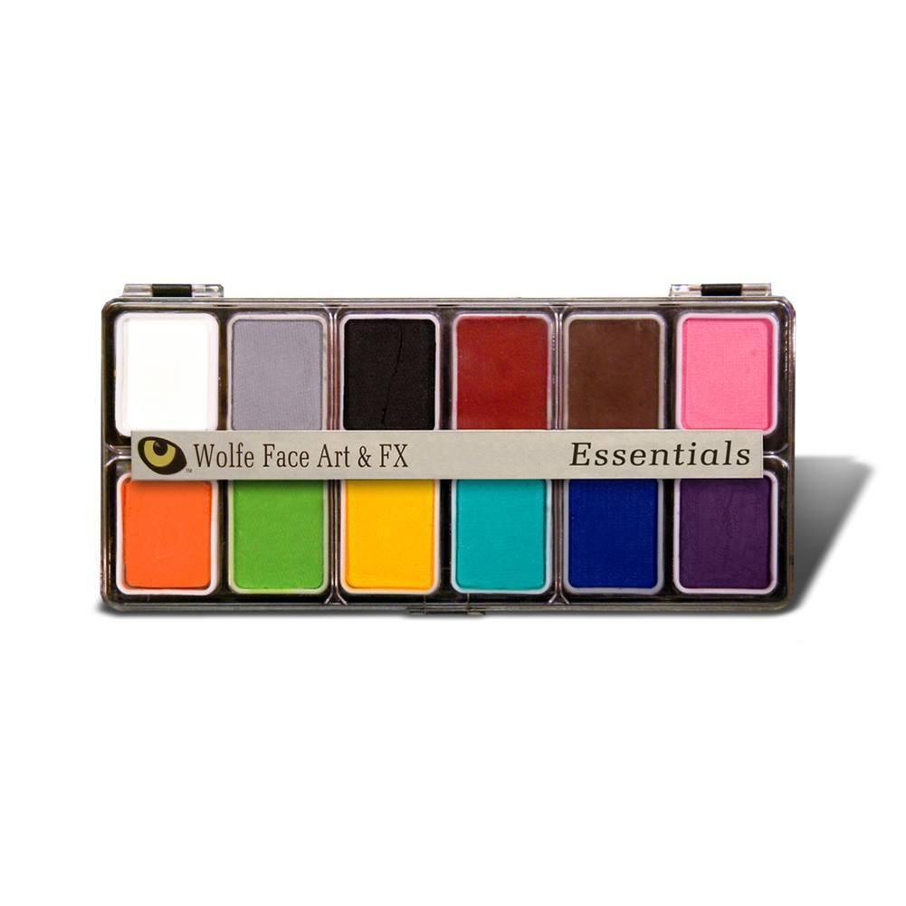 Wolfe Essentials Face Paint Palettes 12 Colors With Images Face Paint Kit Color Palette Paint Palette