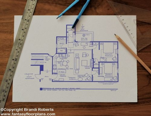 tv show floor plans for famous homes and apartments buy tv floor plans - Rachel Home Plans