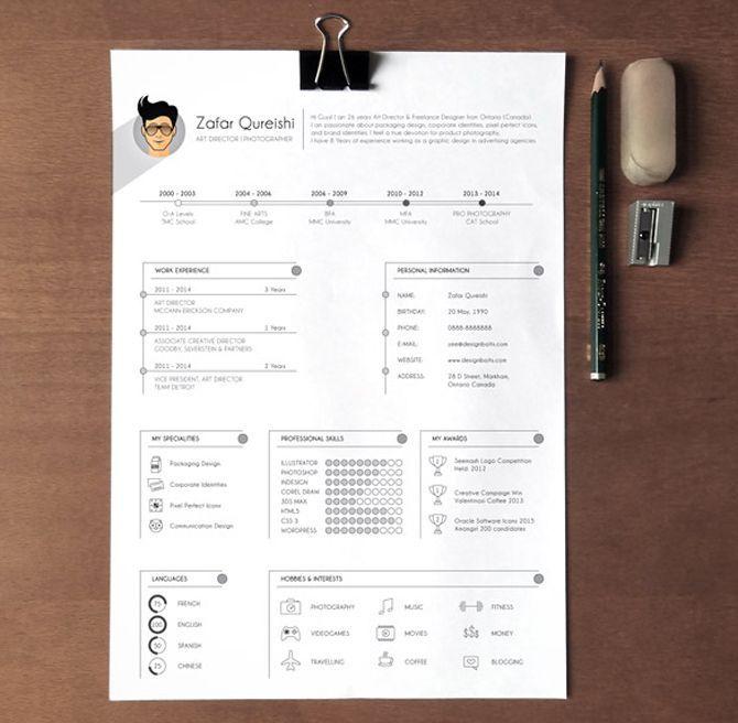 40 Free Printable Resume Templates 2018 to Get a Dream Job Pinterest
