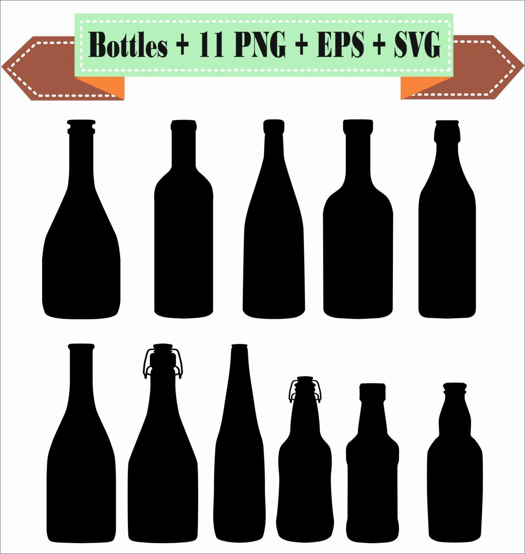 Bottles Bottle Of Wine Alcohol Beer Liquor Silhouette Vector Etsy Wine Bottle Bottle Silhouette Vector