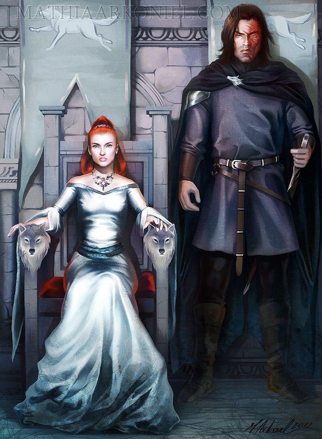 commission: Sandor and Sansa by *MathiaArkoniel on