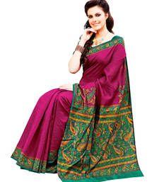 Buy Raani Pink and Multicolor Raw Silk Saree silk-saree online