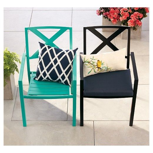 Afton Metal Stacking Chair Turquoise   Threshold™