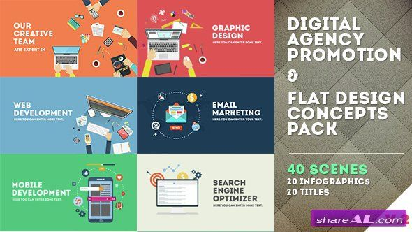Videohive Digital Agency Promotion - Flat Design Concepts - After