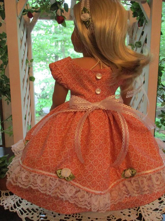 Southern Belle Pink Doll Dress to fit your 18 American Girl Doll for Civil War Era #dressesfromthesouthernbelleera Southern Belle Pink Doll Dress to fit your 18 American #dressesfromthesouthernbelleera