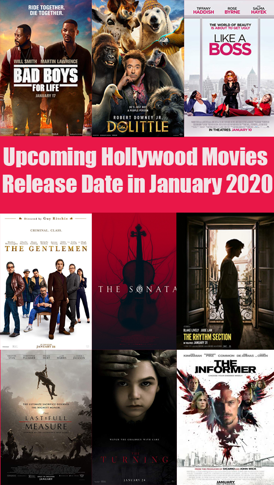 Upcoming Hollywood Movies Release Date In January 2020 Movie Releases Inspirational Hollywood Movies Hollywood