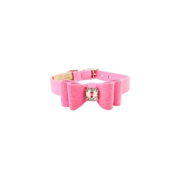 Susan Lanci Big Bow Collar Perfect Pink ($40) ❤ liked on Polyvore featuring jewelry, accessories, bracelets, collar, dogs, dog jewelry and pink jewelry