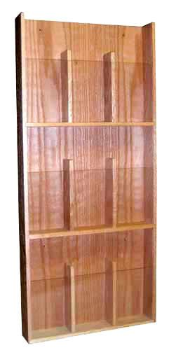Oak Wood Wall Mount Brochure Amp Pamphlet Holder Rack 9 Position Woodworking Projects Easy Woodworking Projects Woodworking