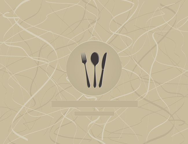 رمز تصميم مجموعة رمز الخلفية Menu Restaurant Scrapbook Material