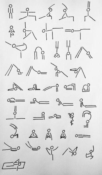 Stick figure drawings yoga izim rnekleri pinterest for Raumgestaltung yoga