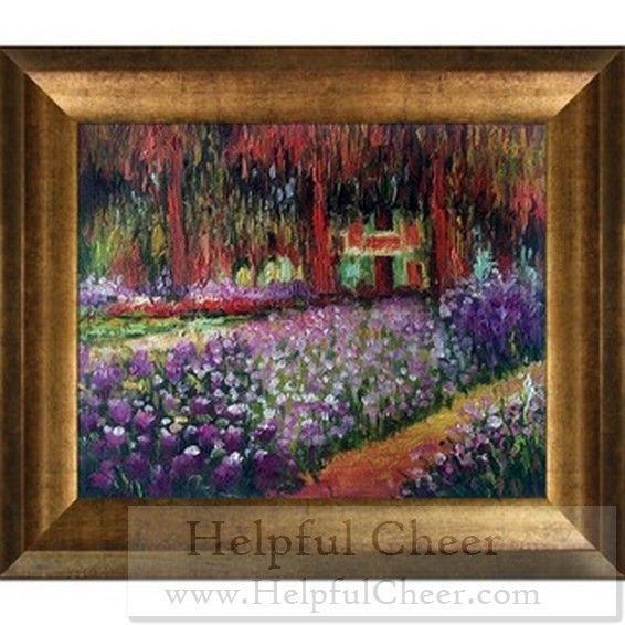 Claude Monet x27 Artist x27 s Garden at Giverny x27 Hand Painted Framed Canvas Art G- delive