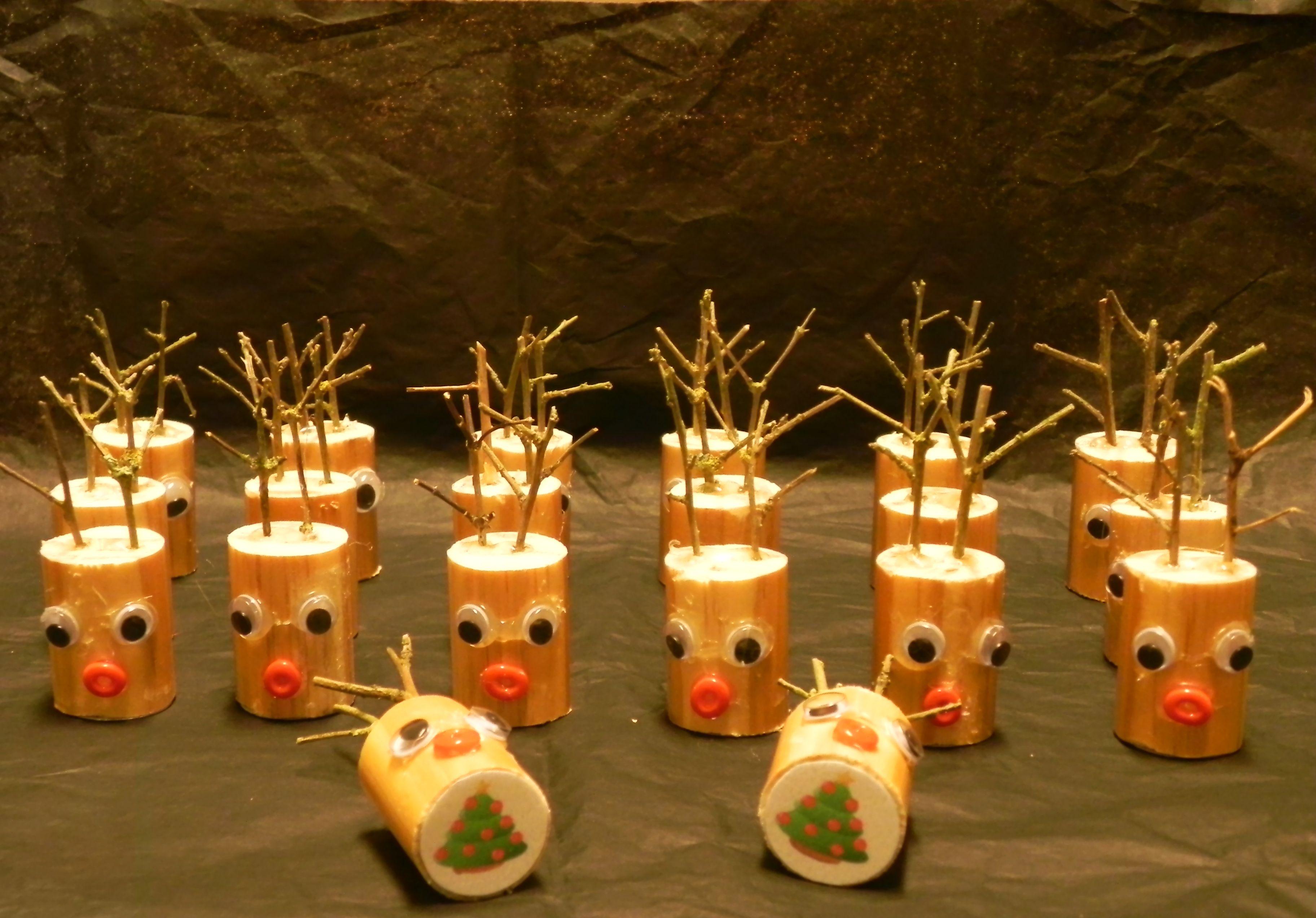 Rendierenmemory - cadeautje voor onder de kerstboom in mijn zoontjes klas...