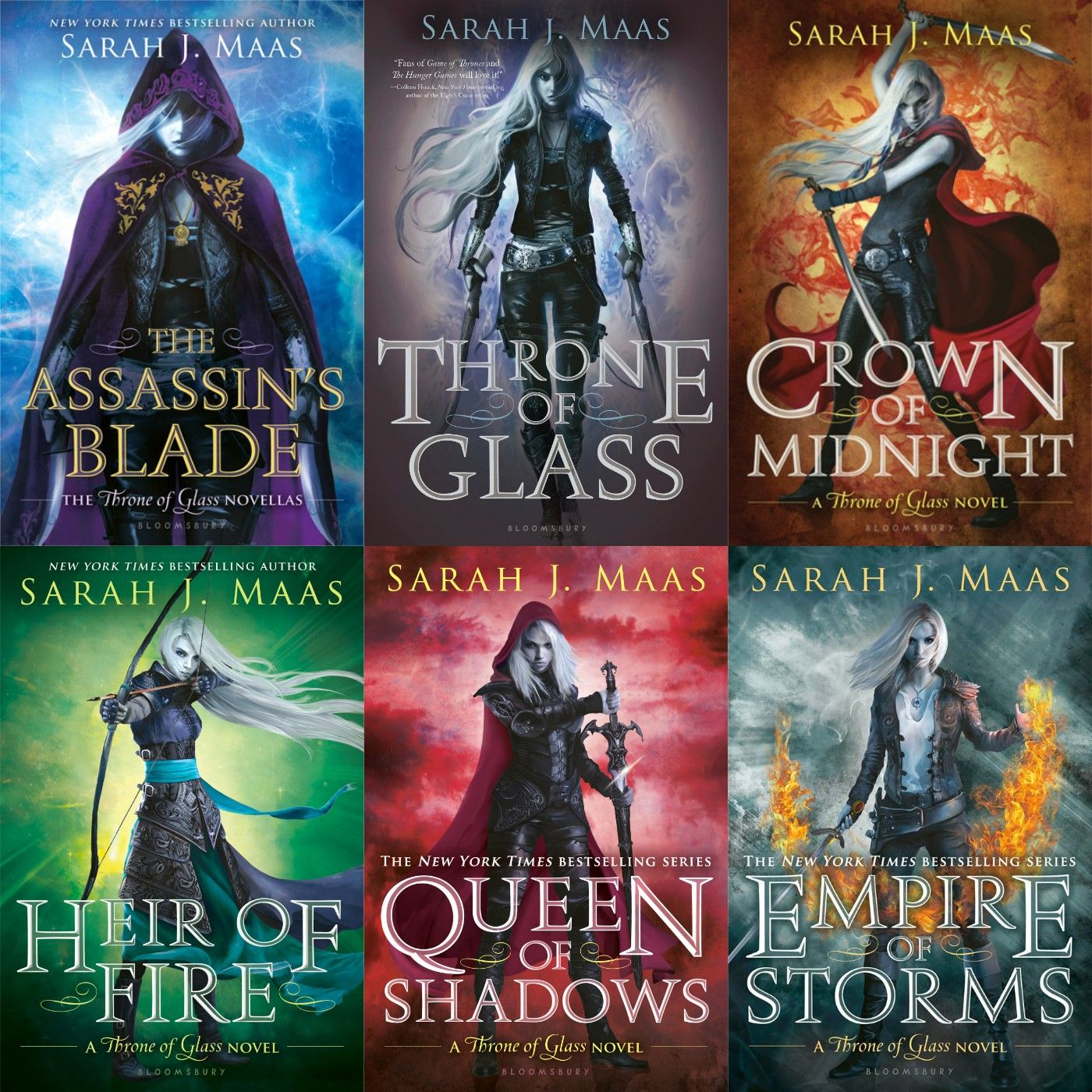 Image result for throne of glass  series covers