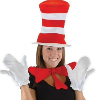 Adult Cat in the Hat Accessory Kit - Dr Seuss BIRTHDAYS - dr seuss halloween costume ideas