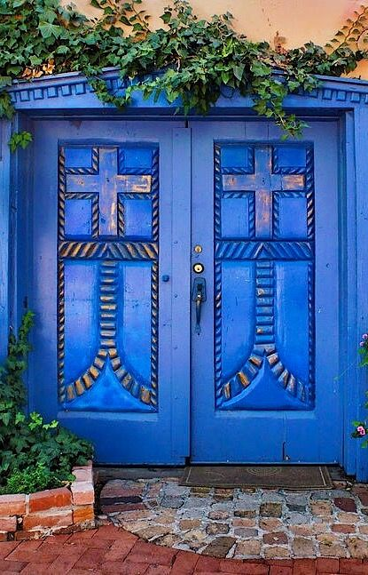 Blue Doors - Old Town - Albuquerque by Nikolyn McDonald  sc 1 st  Pinterest & Albuquerque New Mexico u2026 | Pinteresu2026