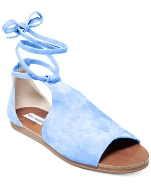 Steve Madden Women's Elaina Lace-Up Sandals - Blue 6.5M