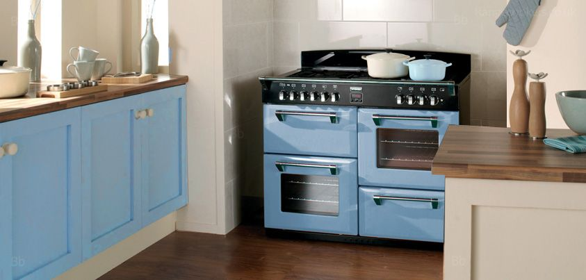 Stoves Richmond Range Cooker In A Pastel Blue Shade Made In