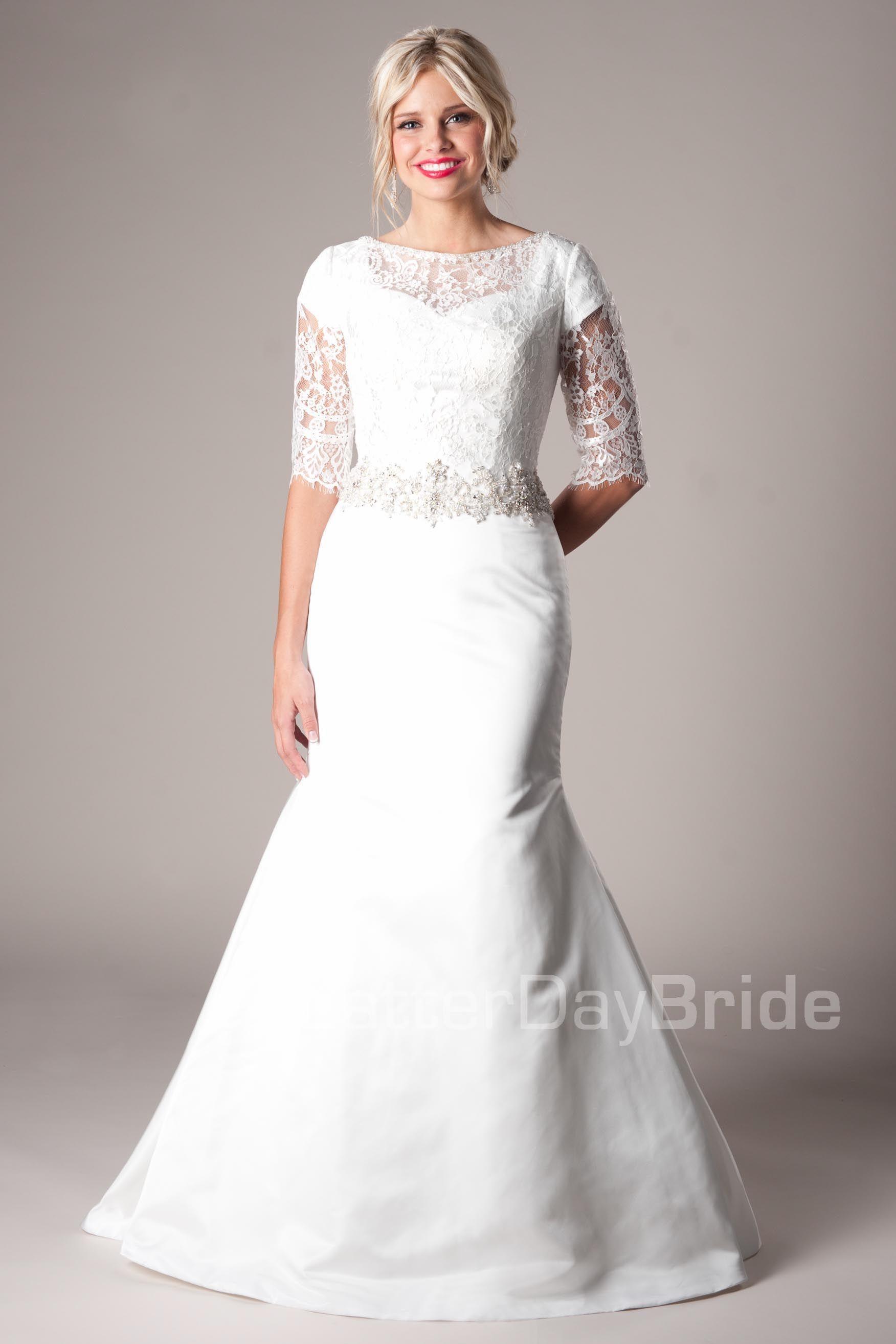 Remington Modest Wedding Dress Latter Day Bride & Prom Gateway ...