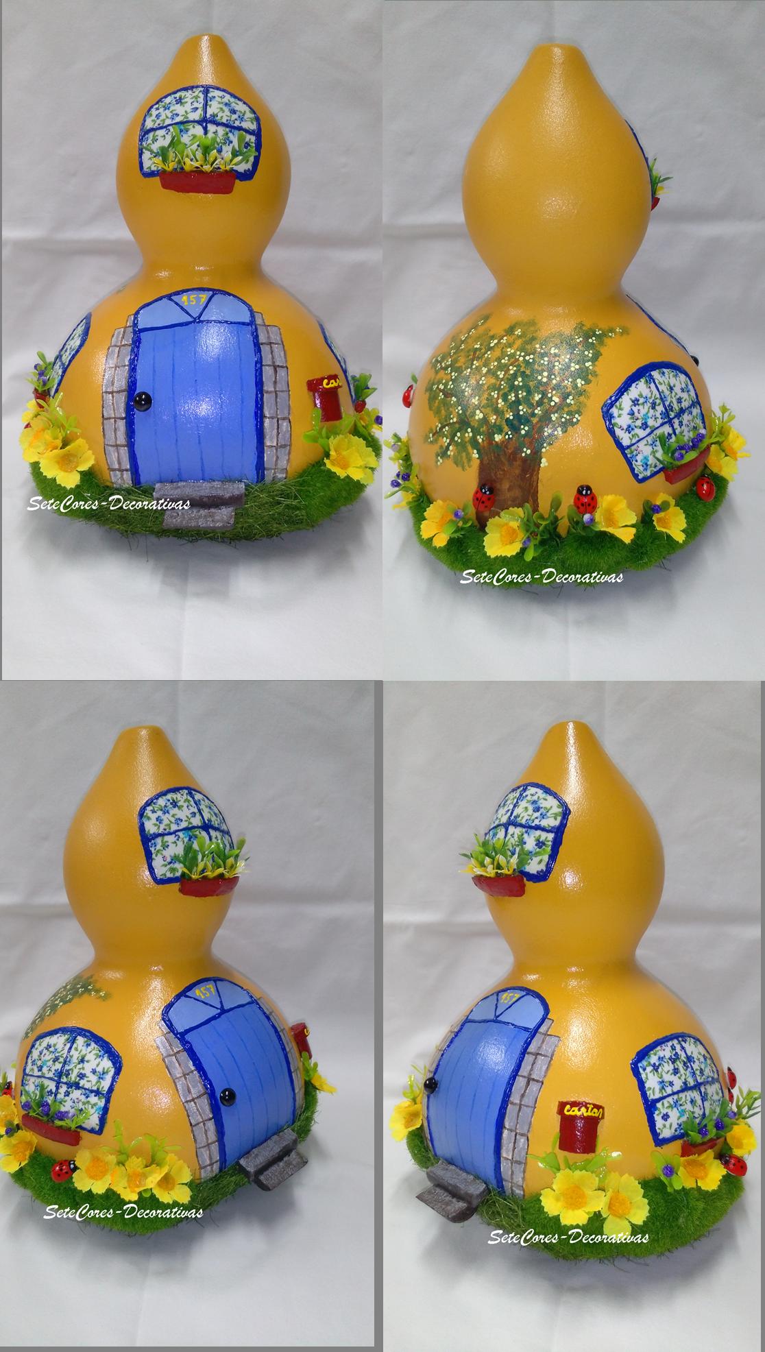 """Reciclagem de Cabaças - """"A Casa Amarela"""""""
