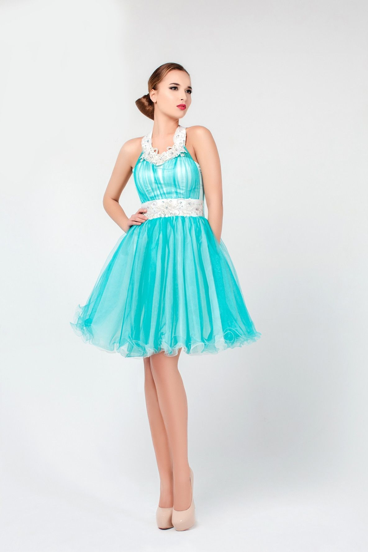 Short A-line Organza Prom Dress | Dress belts, Prom and Shorts