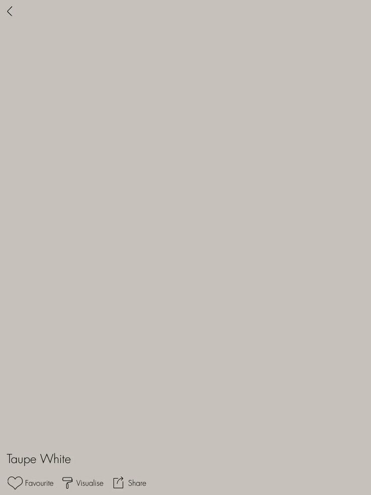Dulux Taupe White (close Match To Taubmans Taupe Grey Used In Laundry)