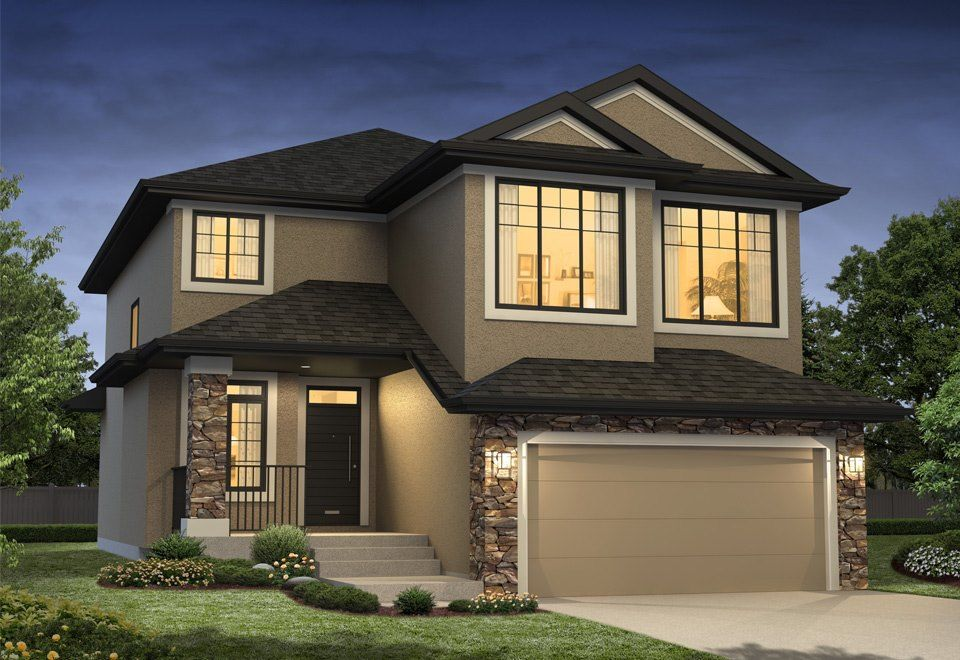 Siena Ii New Single Family Home In Greater Edmonton Modern House Exterior Contemporary House Plans Custom Home Plans