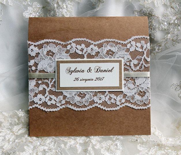 Zaproszenie Na Slub Z Koronka Rustykalne Perfectly Art Zaproszenia Slubne Boho Wedding Wedding Inspiration