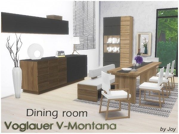 The sims resource dining room voglauer v montana by joy for Dining room ideas sims 4