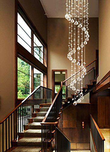 Ella Fashion®Stunning Rain Drop Crystal Mordern Chandelier Lighting Kitchen Restaurant Cafe Flush Mount Ceiling lights Fixture Pendant Lamp for Hotel Foyer Hallway Entry, http://www.amazon.com/dp/B01AG43U5G/ref=cm_sw_r_pi_awdm_x_d8j1xbRW29CQX