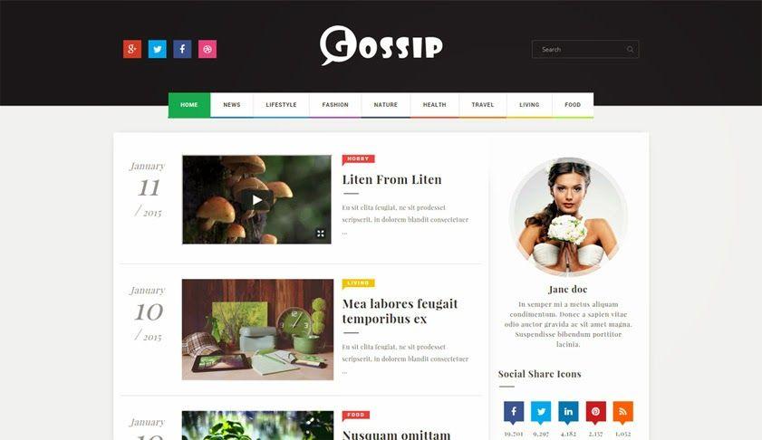Gossip Creative Magazine Blogger template Free Blogger Templates - free profile templates