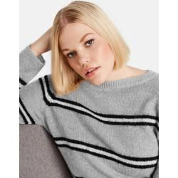Photo of Pullover im Streifen-Look Grau Gerry WeberGerry Weber
