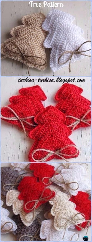 Moderno Patrón Media De La Navidad Pequeño Crochet Elaboración ...