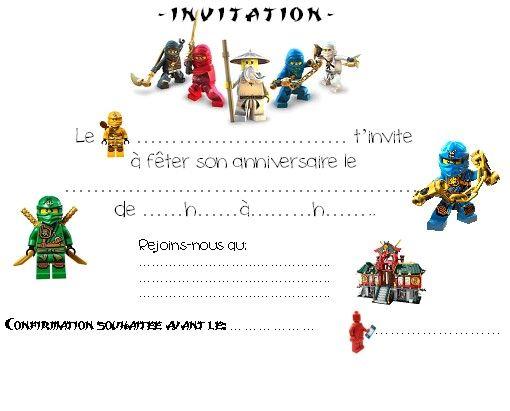 Carte Dinvitation Ninjago Free Printable Szülinapbirthday