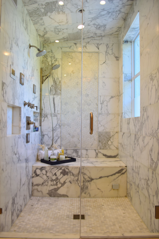 Artistic Tile I Calacatta Gold Master Bath